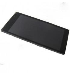 Sony Xperia C S39H pantalla lcd + táctil negro + marco