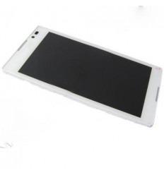 Sony Xperia C S39H pantalla lcd + táctil blanco + marco