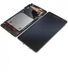 Sony Xperia V LT25I pantalla lcd + tactil negro + marco orig