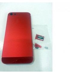 iPhone 5S Carcasa central + Tapa batería rojo