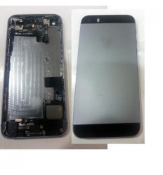 iPhone 5S black battery cover with middle frame with compone