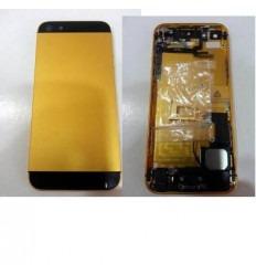 iPhone 5 carcasa central + tapa batería dorado-negro + compo