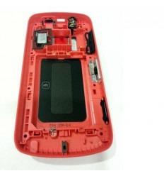 Nokia 808 Pureview carcasa central + tapa batería rojo