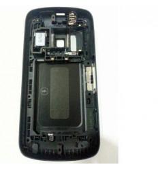 Nokia 808 Pureview carcasa central + tapa batería negro