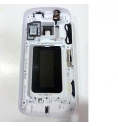 Nokia 808 Pureview carcasa central + tapa batería blanco