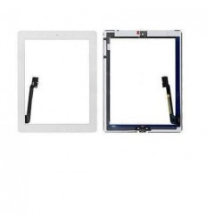 iPad 4 white touch screen with complete home button with adh