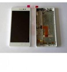 Huawei Ascend P7 Sophia pantalla lcd + táctil blanco + marco
