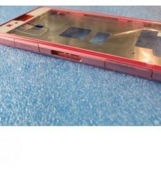 Sony Xperia Z1 Mini D5503 Z1C M51W marco frontal rosa + marc