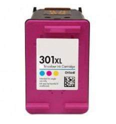 Cartucho reciclado HP 301XL tricolor (alta capacidad) CH564E