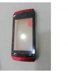 Nokia Asha 305 Pantalla táctil negro + marco rojo original