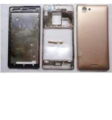 Sony Xperia J ST26I carcasa completa dorado