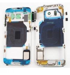 Samsung Galaxy S6 G9200 G920F carcasa central blanco origina