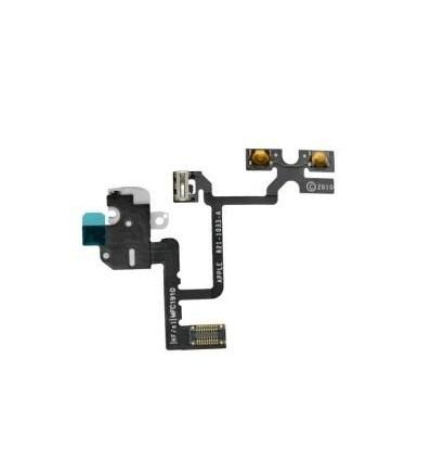 iPhone 4 original headphone audio jack flex cable white