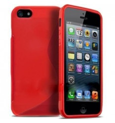 iPhone 5 5S protector tpu gel rojo