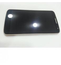 LG G2 Mini D620 pantalla lcd + táctil negro + marco dorado o